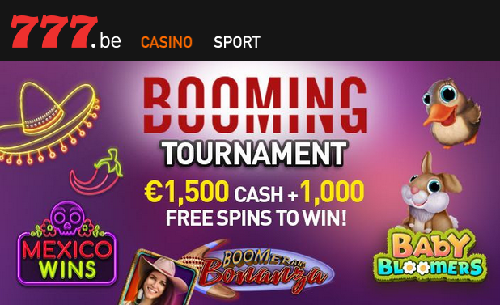 Tournoi Booming sur Casino777