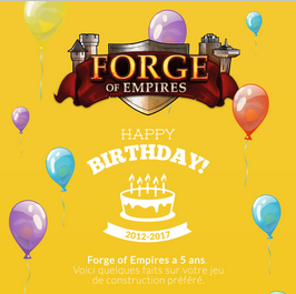 Anniversaire 5 ans Forge of Empires