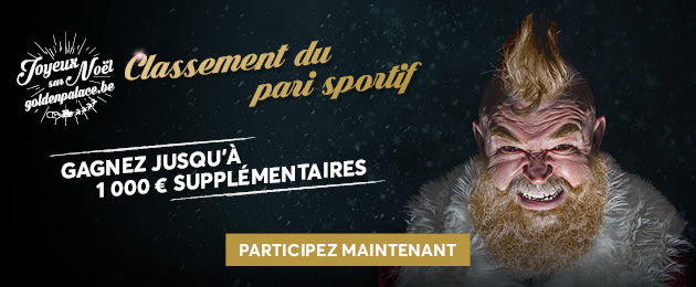 Les promotions de Noel sur Golden Palace